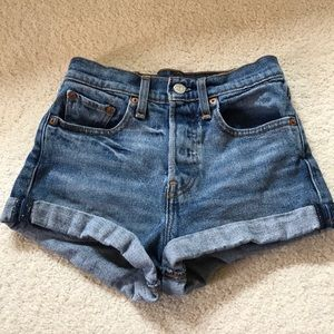 Levi Strauss jean shorts with cuff Size 24